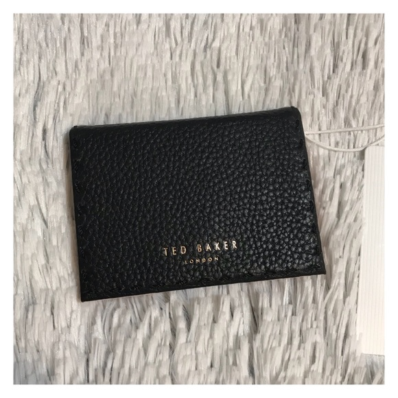 release date: 143d3 c92a1 NWT Ted Baker Fold Out Card Holder Case Black Pink Boutique